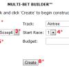 Multi-Race Bet Ticket Builder